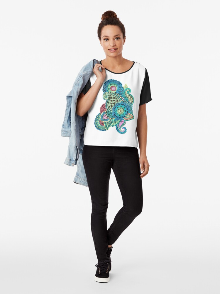 Alternative Ansicht von Bunter Zendoodle Chiffon Top