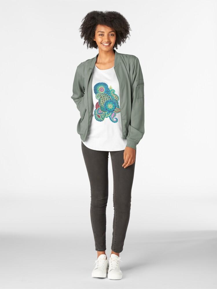 Alternative Ansicht von Bunter Zendoodle Premium Rundhals-Shirt