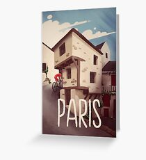 """""""Paris"""" Cyling Poster Greeting Card"""
