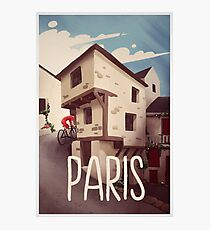 """Paris"" Cyling Poster Photographic Print"