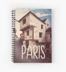 """Paris"" Cyling Poster Spiral Notebook"