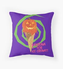 I Scream For Ice Cream!!! (Halloween Flavored) Throw Pillow