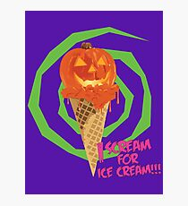 I Scream For Ice Cream!!! (Halloween Flavored) Photographic Print