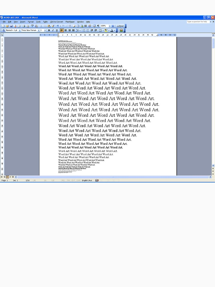 Word Art I by rupertrussell