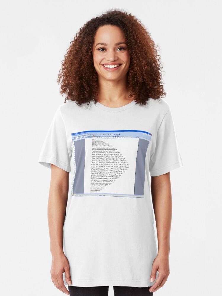 Alternate view of Word Art I Slim Fit T-Shirt