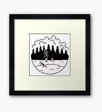 Cool Camping Outdoors Logo / Graphic Framed Print