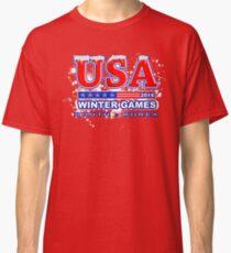 USA 2018 Winter Games US South Korea Sports T-shirt Classic T-Shirt