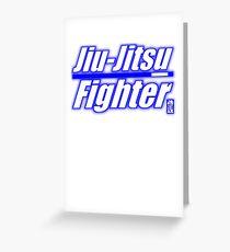 BJJ Blue Belt Jiu Jitsu Fighter Greeting Card