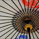 White umbrella, Kyoto, Japan by turningjapanese