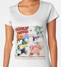 "Horus Hippo in ""Shop 'Till You Drop"" Premium Scoop T-Shirt"