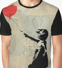 Banksy Red Heart Balloon Graphic T-Shirt
