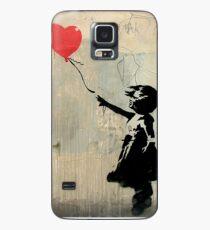 Banksy Red Heart Balloon Case/Skin for Samsung Galaxy