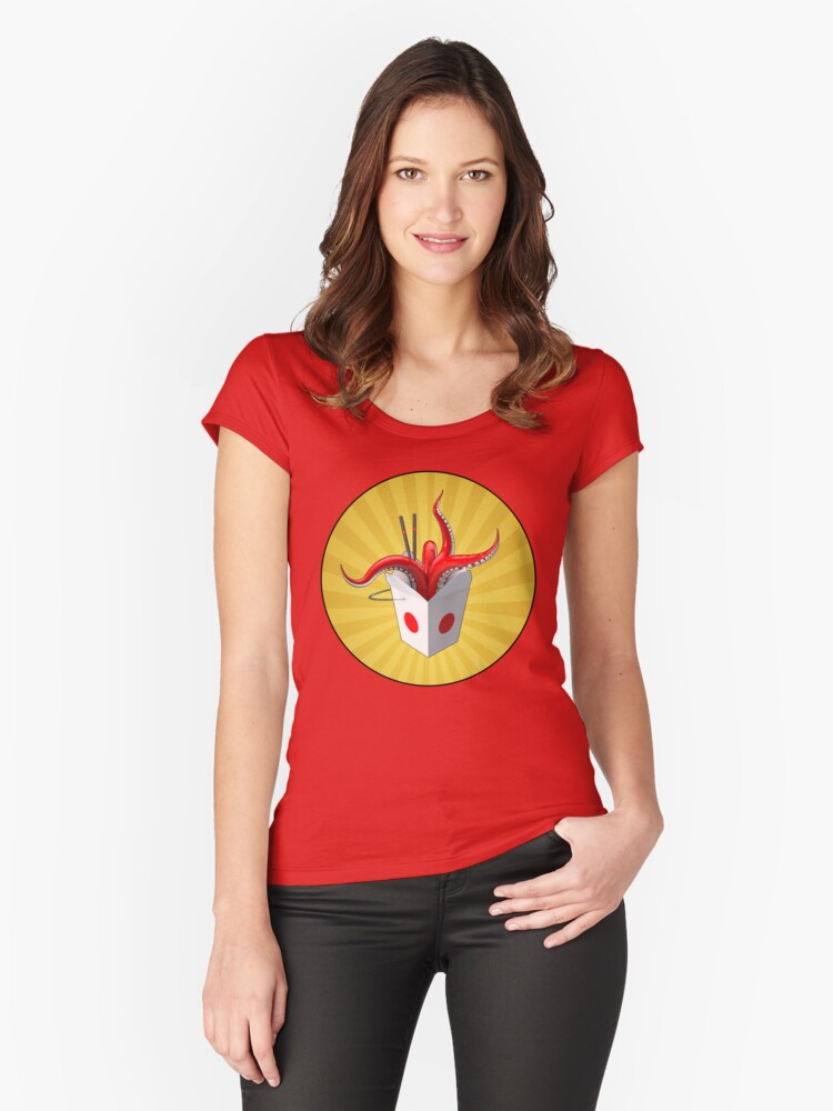 Takeout? Women's Fitted Scoop T-Shirt Front