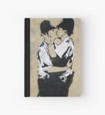 Banksy Kissing Police Hardcover Journal