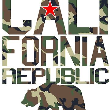 California Republic (camo bear style) by robotface