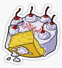 COIN Talk Too Much Cake Sticker