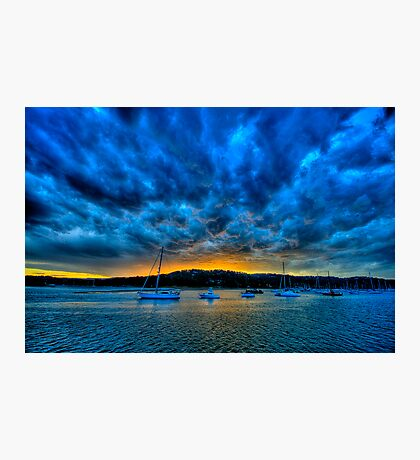 Blue Storm - Newport - The HDR Experience Photographic Print