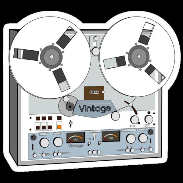 Reel Vintage Tape Deck by Matt Simner