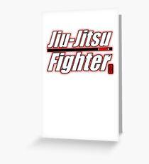 BJJ Black Belt Jiu Jitsu Fighter Greeting Card