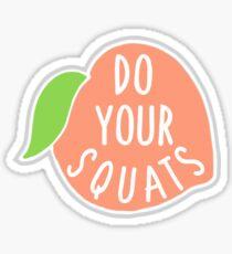 'Do Your Squats' Peach  Sticker