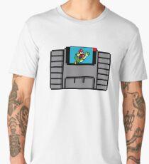 Super Nintendo Super Mario World Cartridge  Men's Premium T-Shirt