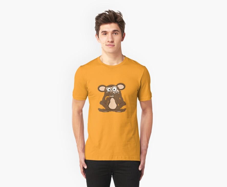 Silent Monkey Tee (fur) by BluAlien