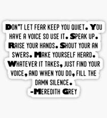 Pegatina Meredith Gray