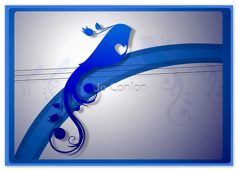 Royal Blue Bird by Jo Conlon
