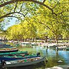 Annecy, boats and channel from lovers' bridge by MarcoSaracco