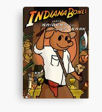 Indiana Bones and the Raiders of the Lost Bark Canvas Print