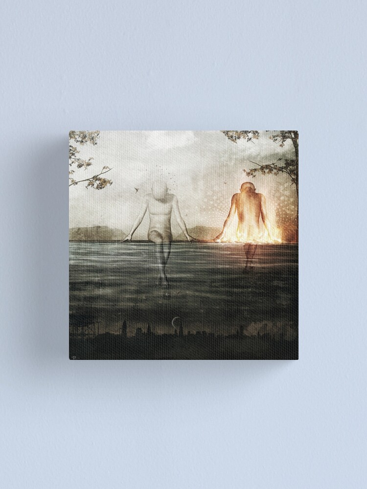 Alternate view of Here We Divide Canvas Print