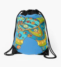 Polar Bear, cool art from the AlphaPod Collection Drawstring Bag