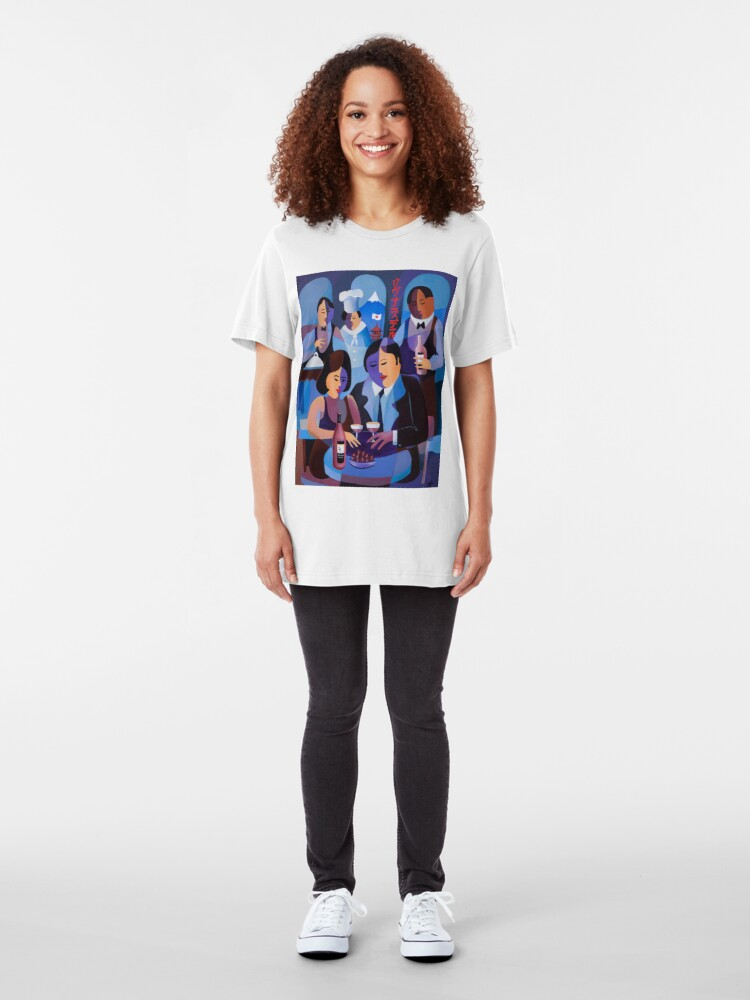 Alternate view of THE LAST DINERS, JAPAN Slim Fit T-Shirt