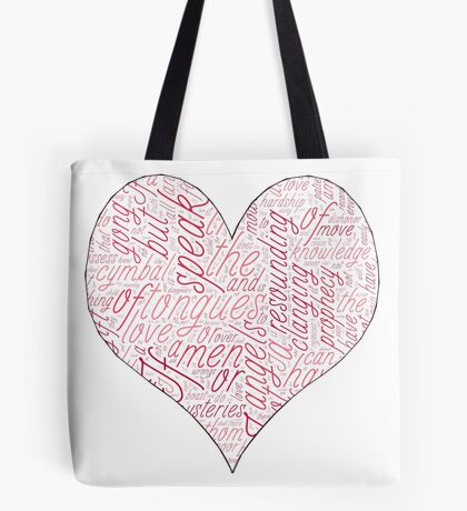 1 Corinthians 13 LOVE Tote Bag