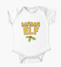 Mama Elf with Mistletoe Festive Christmas One Piece - Short Sleeve