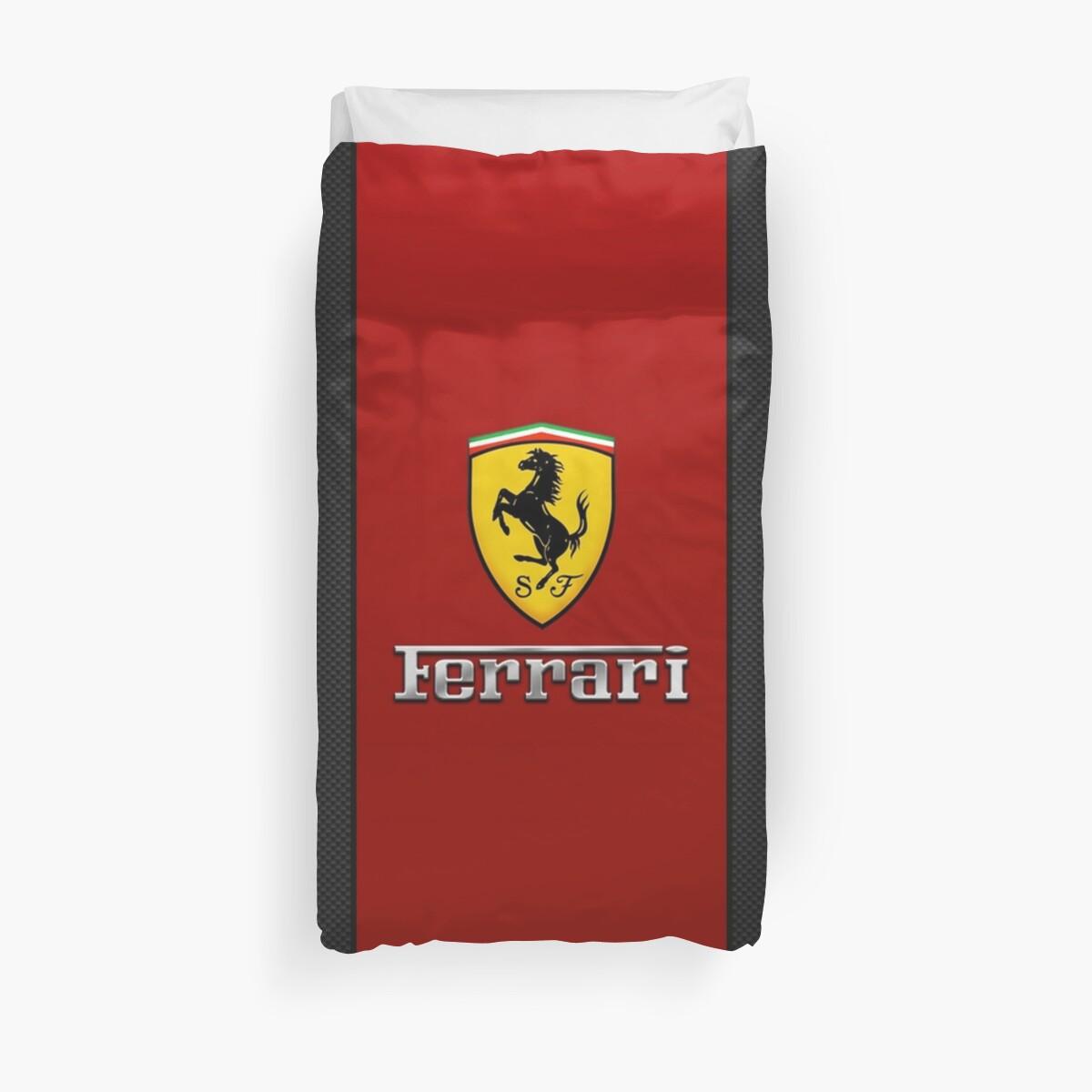 Quot Emblem Ferrari Quot Duvet Covers By Emmagarza Redbubble