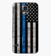 Police blue line Flag Case/Skin for Samsung Galaxy
