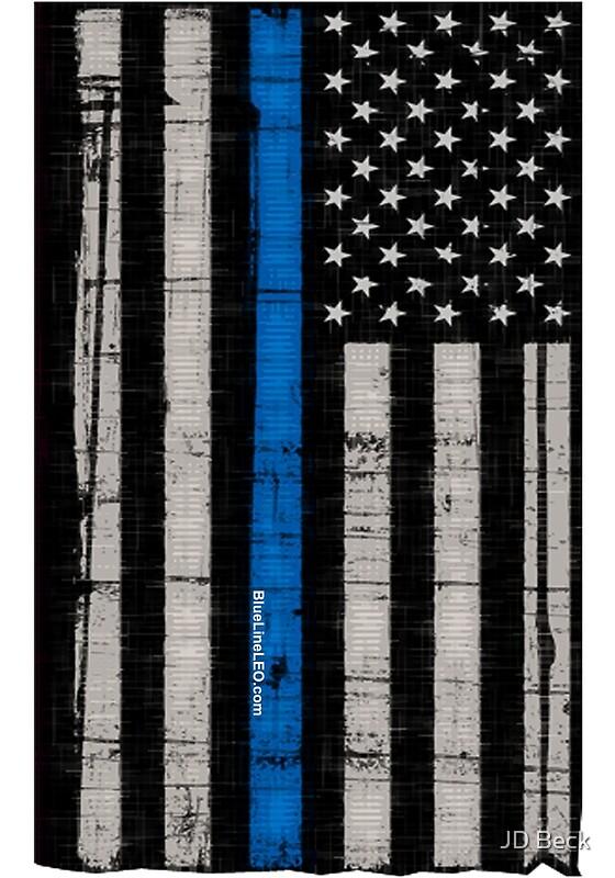 Blue Line Art Painting : Quot police blue line flag art prints by blueline leo redbubble