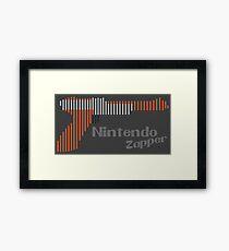 NES Zapper Line Art Framed Print