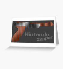 NES Zapper Line Art Greeting Card