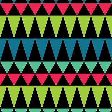 Psychedelic Folk Geometric Pattern by jasoncastillo