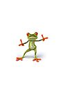 Frog funny guy by thatstickerguy