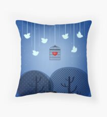 Illustrated Cushion  Throw Pillow