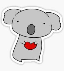 Koala Holding a Heart Sticker
