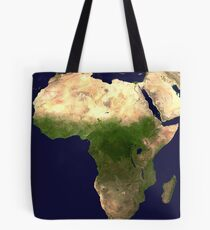 Satellite picture of continent of Africa Tote Bag