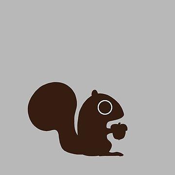Eichhörnchen mit Nuss von ShortCoffee