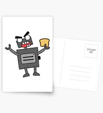 angry zombie robot toaster Postcards