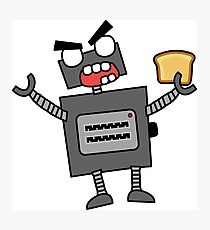 angry zombie robot toaster Photographic Print
