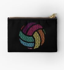 Colorful Volleyball Words Volleyball Player Studio Pouch