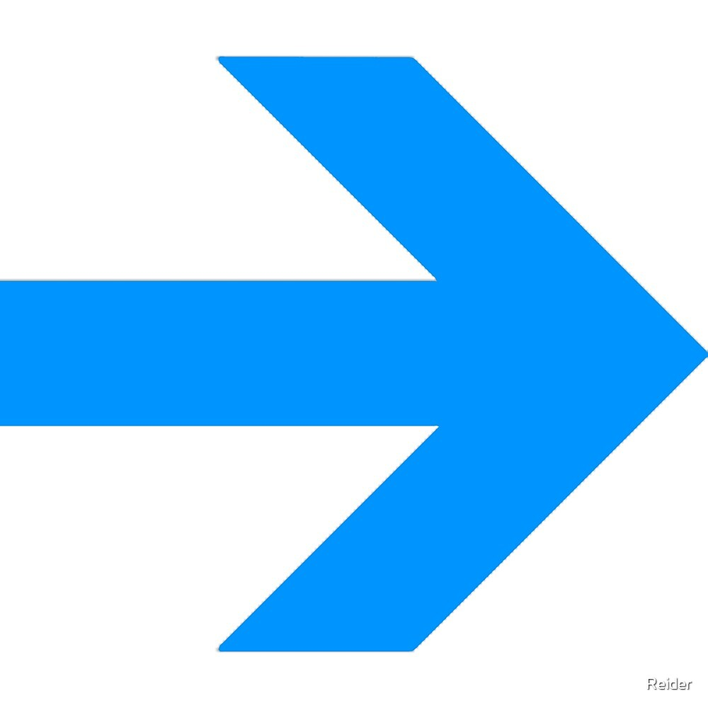 Blue Arrow Point By Reider Redbubble